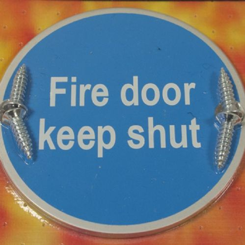 Keep Shut Fire Door Sign